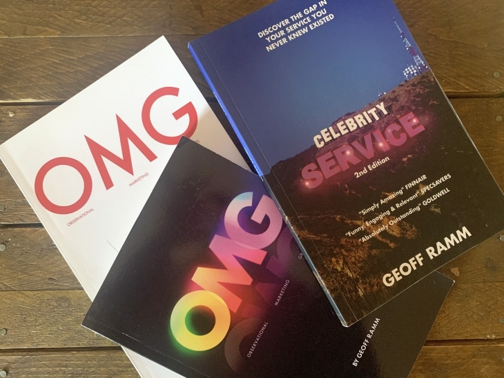 geoff ramm omg celebrity service roseanna sunley business book reviews